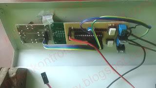 Mocowanie LCD i przycisków