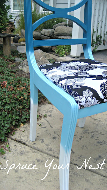 ombre, chair, spray painting furniture