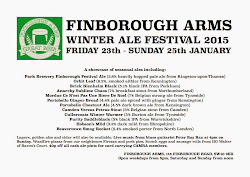 Finborough Winter Ale Festival - this weekend!