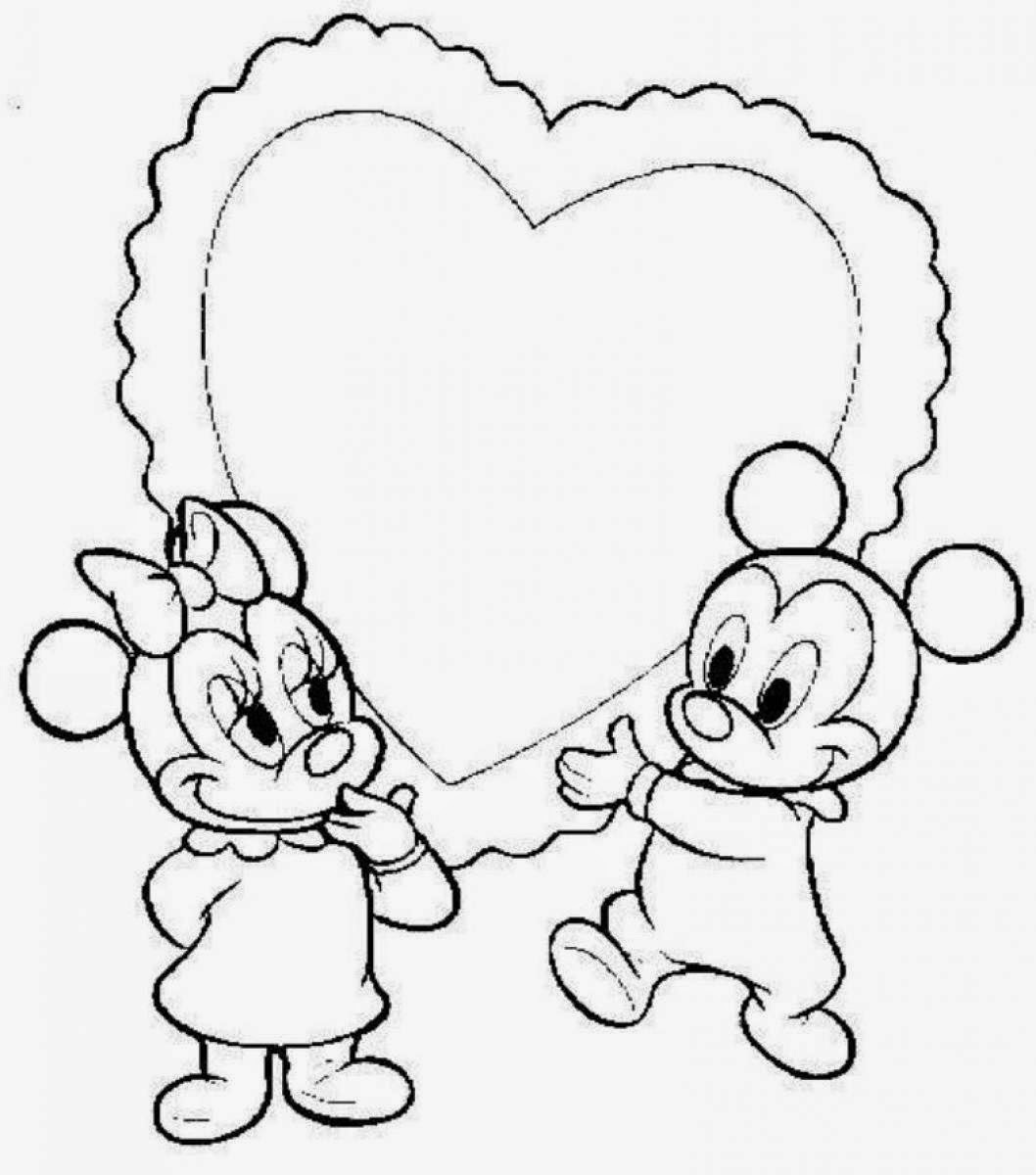 Baby Cartoon Characters Coloring Pages Baby Disney Col...