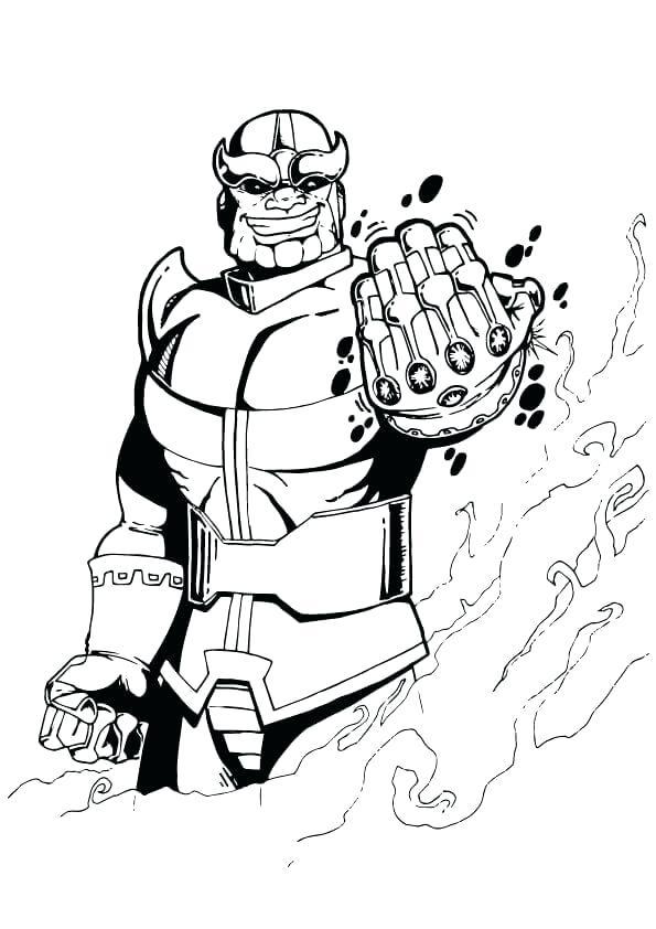 Ausmalbilder Thanos Thanos Zum Ausmalen Nachmalen