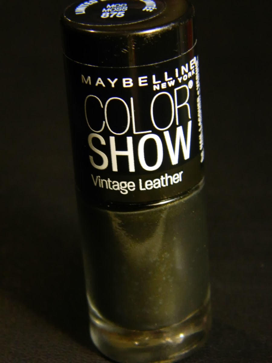 Maybelline Color Show limited edition vintage leather nail polish 875 Mod Moss