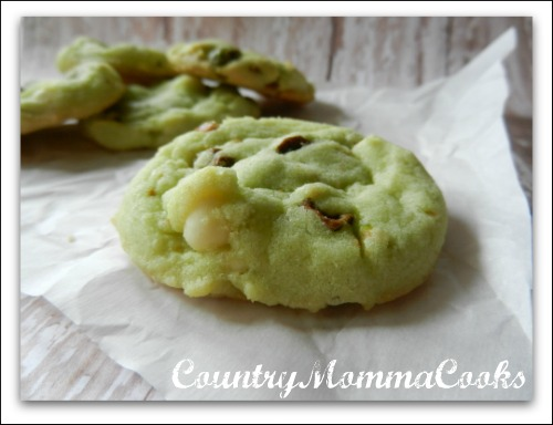 Pistachio White Chocolate Chip Cookies ""