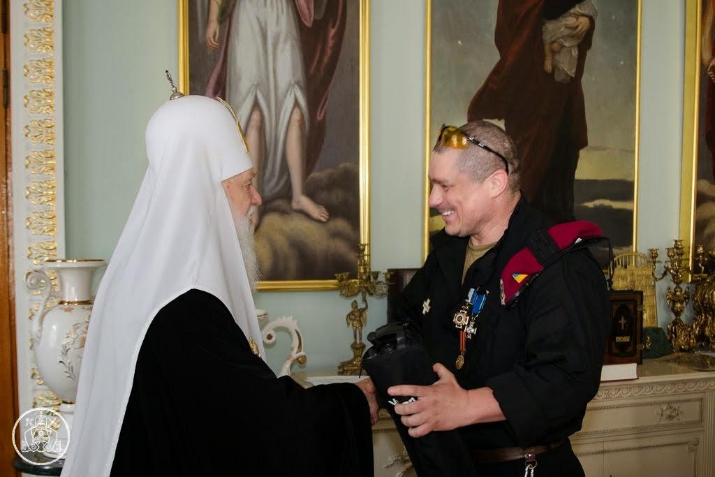 Ветерани військово-морської розвідки подякували Патріарху Філарету за підтримку Збройних сил Україн