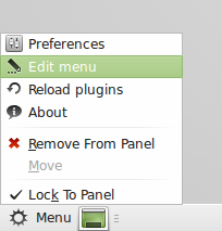 customize Linux Mint menu