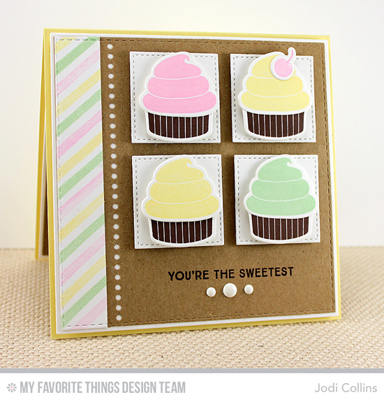 You're the Sweetest card from Jodi Collins featuring the LJD You're the Sweetest stamp set  Die-namics
