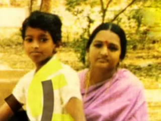 Vijay with his mother