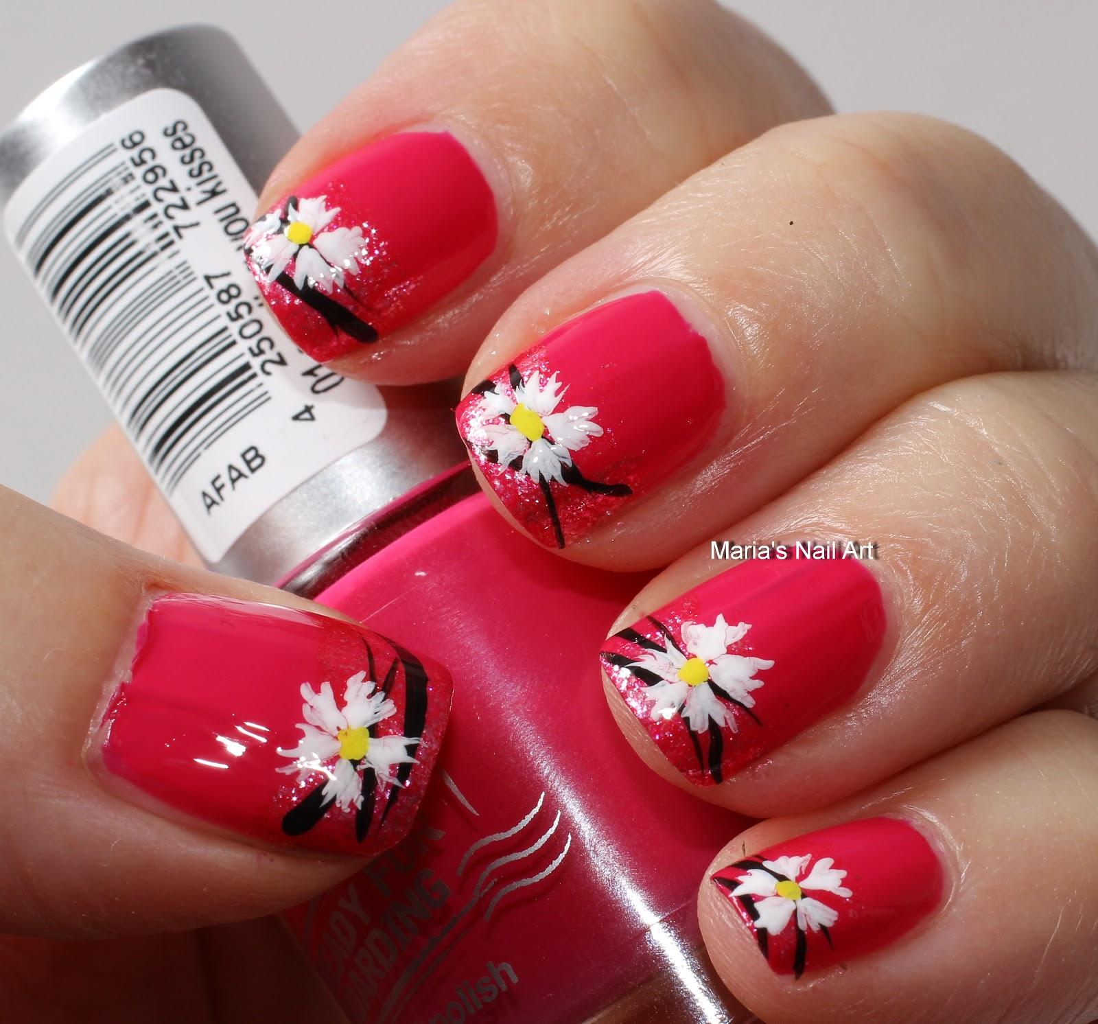 Marias Nail Art and Polish Blog: Sending you kisses and flowers
