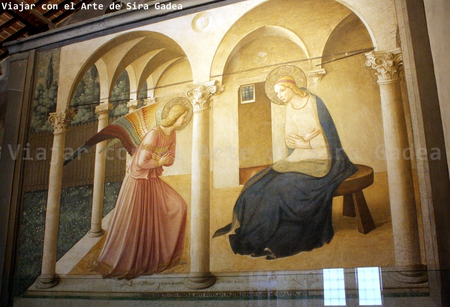 Las celdas de fra Angelico en el convento de san Marcos en Florencia