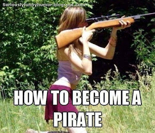 How to become a pirate - girl shooting sniper