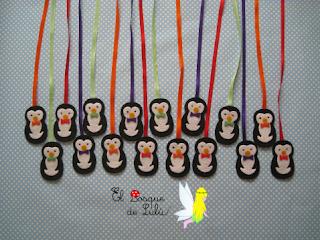 marcador-marcapáginas-agenda-escolar-pingüinos-búhos-fieltro-elbosquedelulu-hechoamanoparati-regalo-cumpleaños-material-escolar