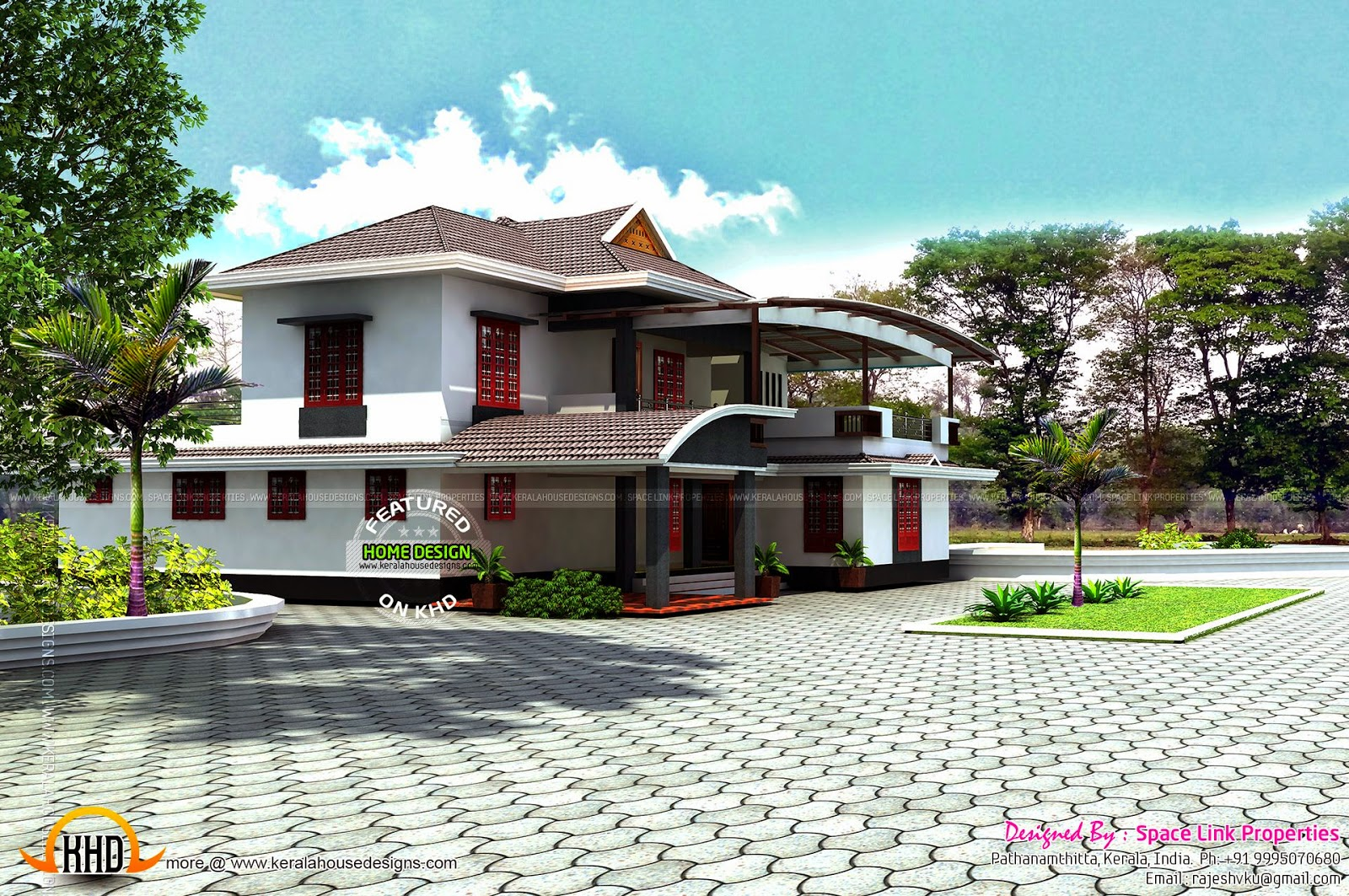 Elevation Plan And Side Views : Elevation side and front view kerala home design