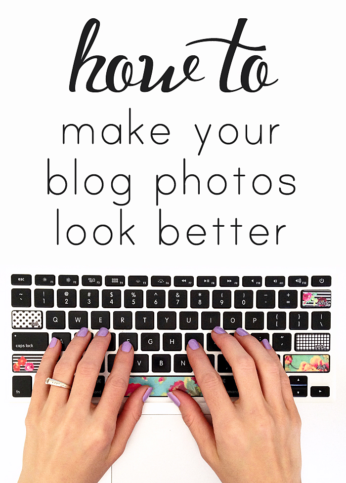 Tired of your great photos looking BLAH on your blog? Here are five ways to make your photos look good when they show up in a post!