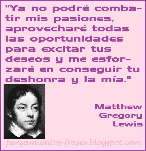 frases de Matthew Gregory Lewis