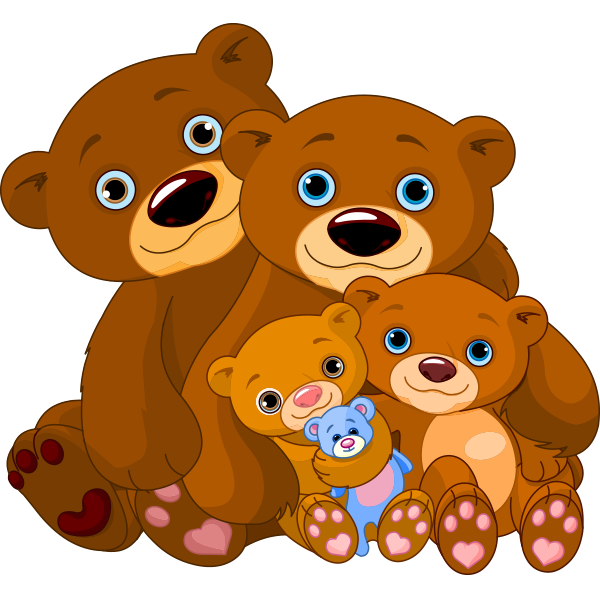 Cuddly Bear Family Image