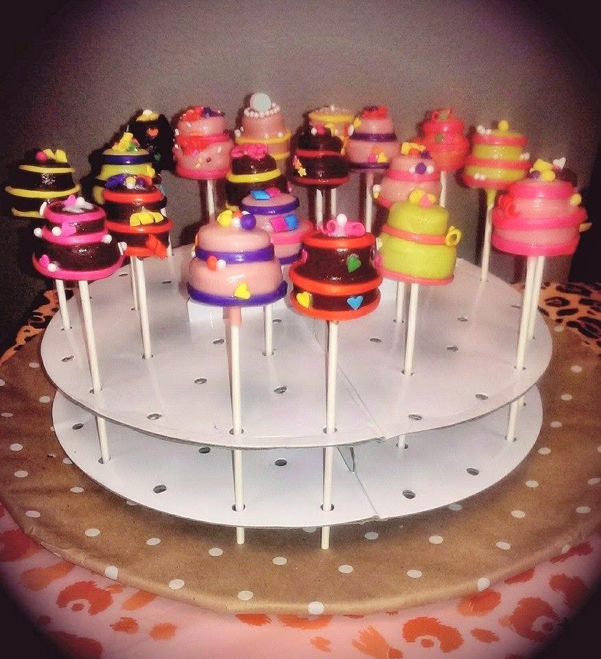 Megmade Creations Birthday Cake Cake Pops with Fondant