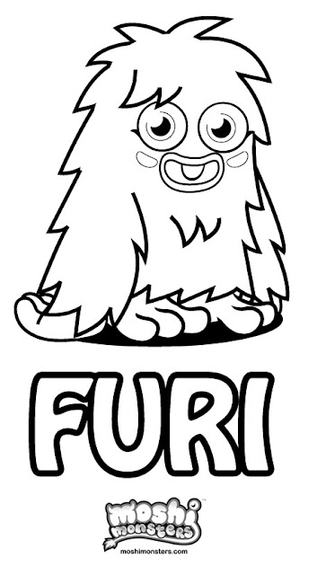 Moshi Monsters Coloring Pages - Furi