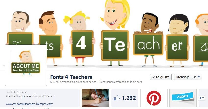 TPT - Fonts 4 Teachers: Facebook