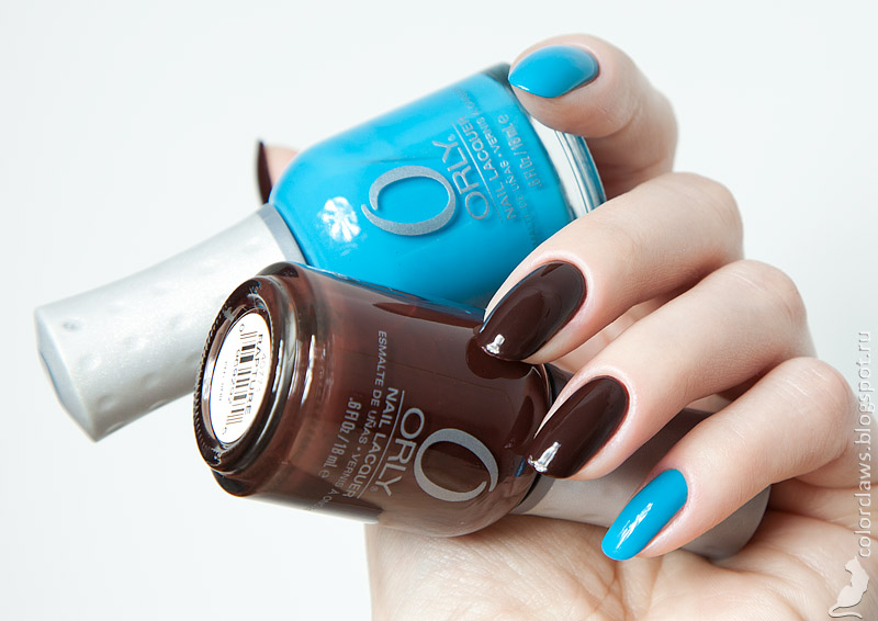 Orly Rapture + Blue Collar