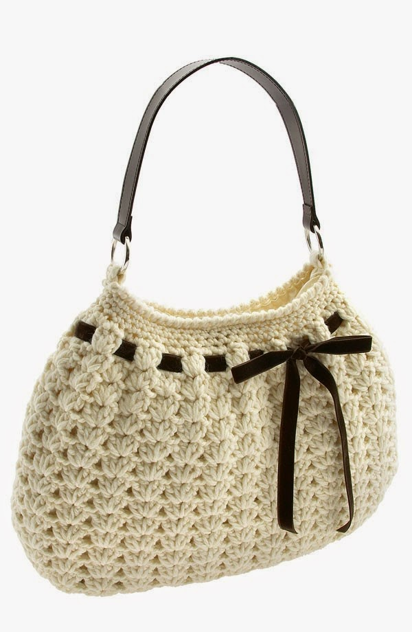 Bolsa a crochet (Punto abanico)