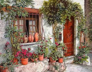 Cuadros Fachadas Casas Flores