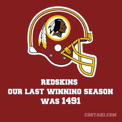 Redskins our last winning season was 1491