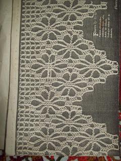 Puntos y retazos toalla con puntilla crochet - Puntillas para cortinas ...