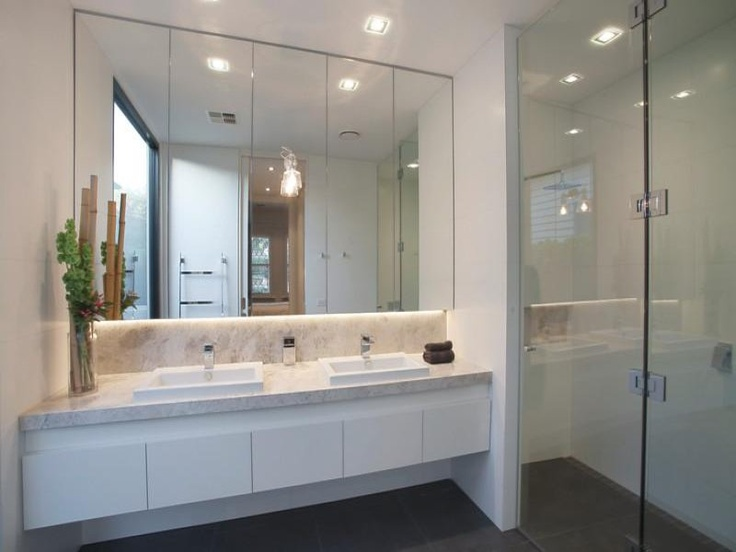 Bathroom ideas our hampton style forever home for Ensuite lighting ideas