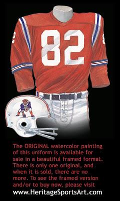 Boston Patriots 1964 uniform - New England Patriots 1964 uniform