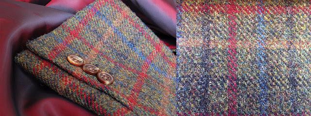 Charakterystyczny wzór tkanin tweedowych