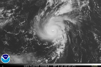 Imágen de satélite huracán Michael, 06 de Septiembre 2012