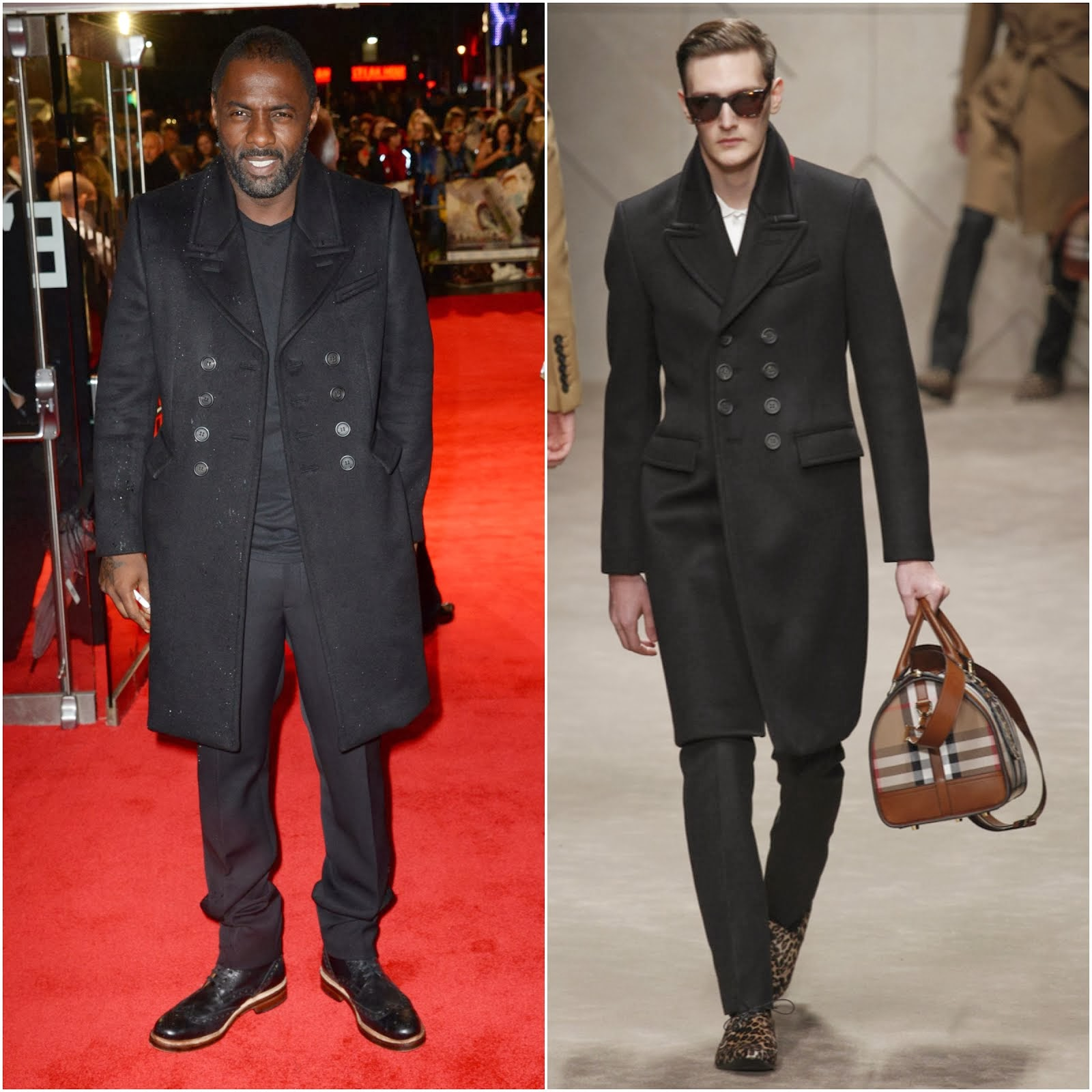 00O00 Menswear Blog: Idris Elba in Burberry - 'Thor: The Dark World' premiere, London