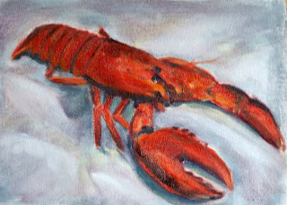 lobster oil painting
