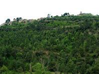 Talamanca i el seu Castell des del Torrent de la Font dels Pets