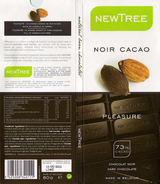 tablette de chocolat noir dégustation newtree noir cacao 73