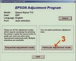 Reset Printer Epson t13 Blinking