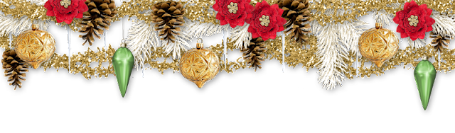 Golden Christmas freebie page topper