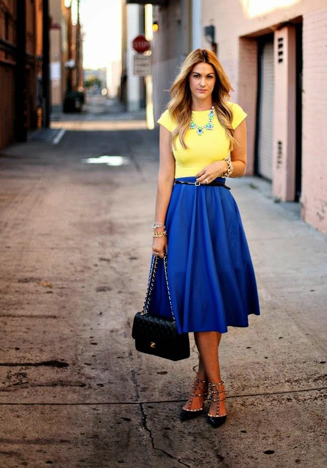 Юбка Синяя Фото