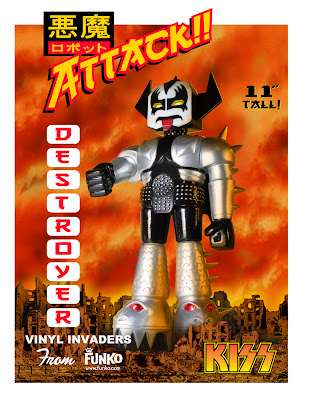 "Vinyl Invader: 11"" Kiss Destroyer Demon Robot by Funko"