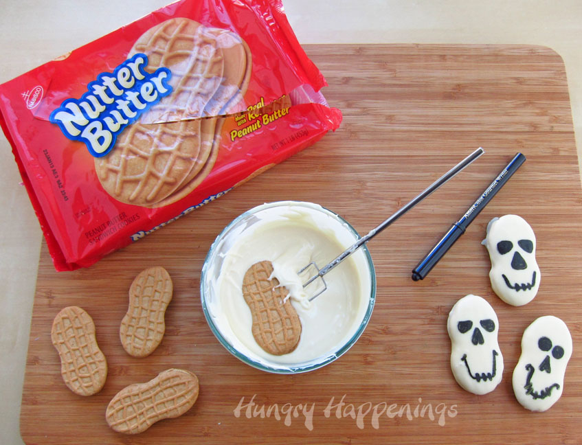 looking for quick and easy halloween treats these nutter butter skulls are a last minute - Quick And Easy Halloween Treats For Kids To Make