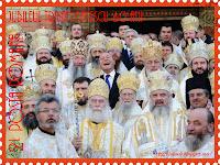 Funny stamp Jubileul Traian Băsescu Ierarhi
