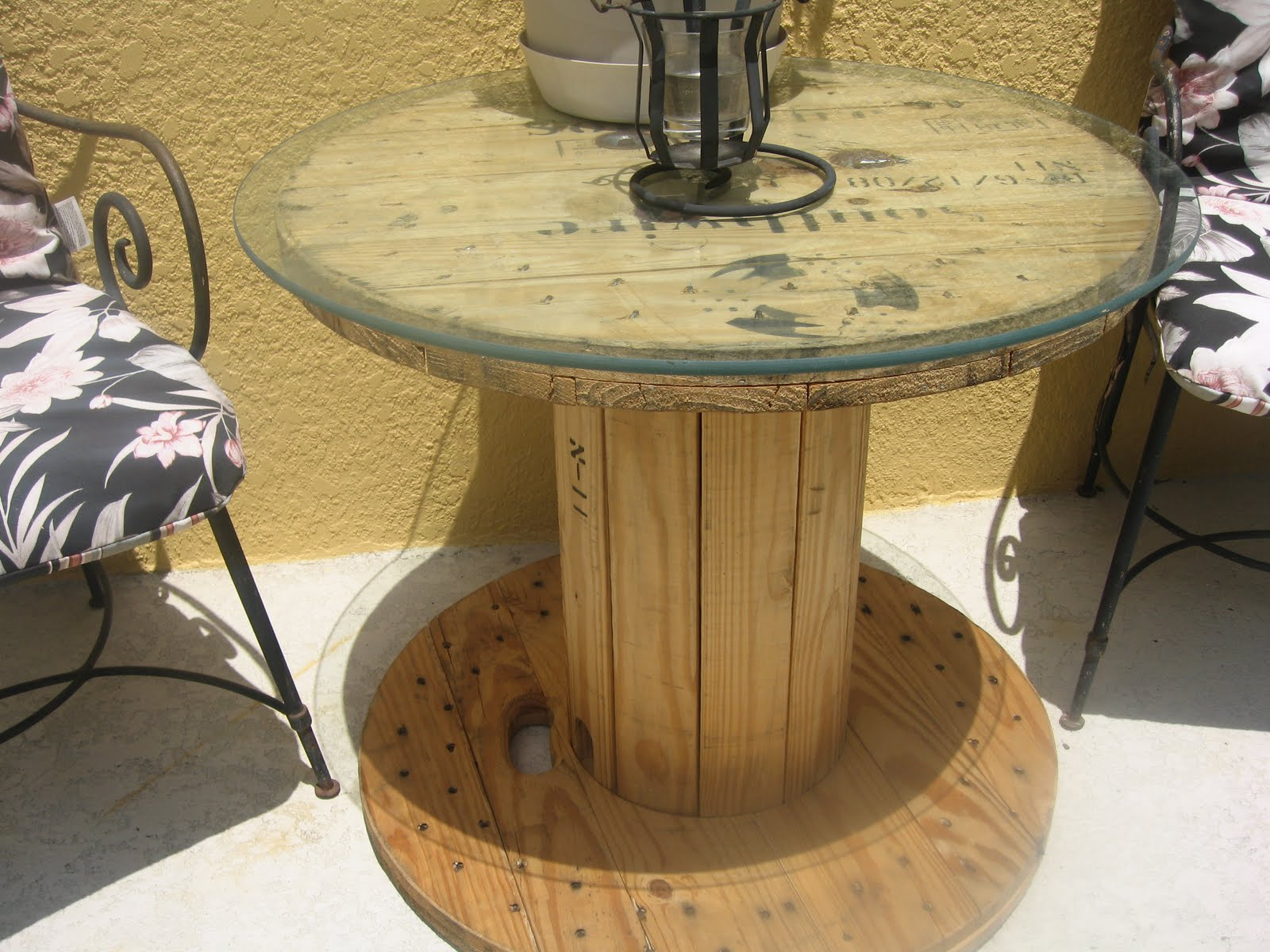camelot art creations ballard designs inspired patio table the cable spool table