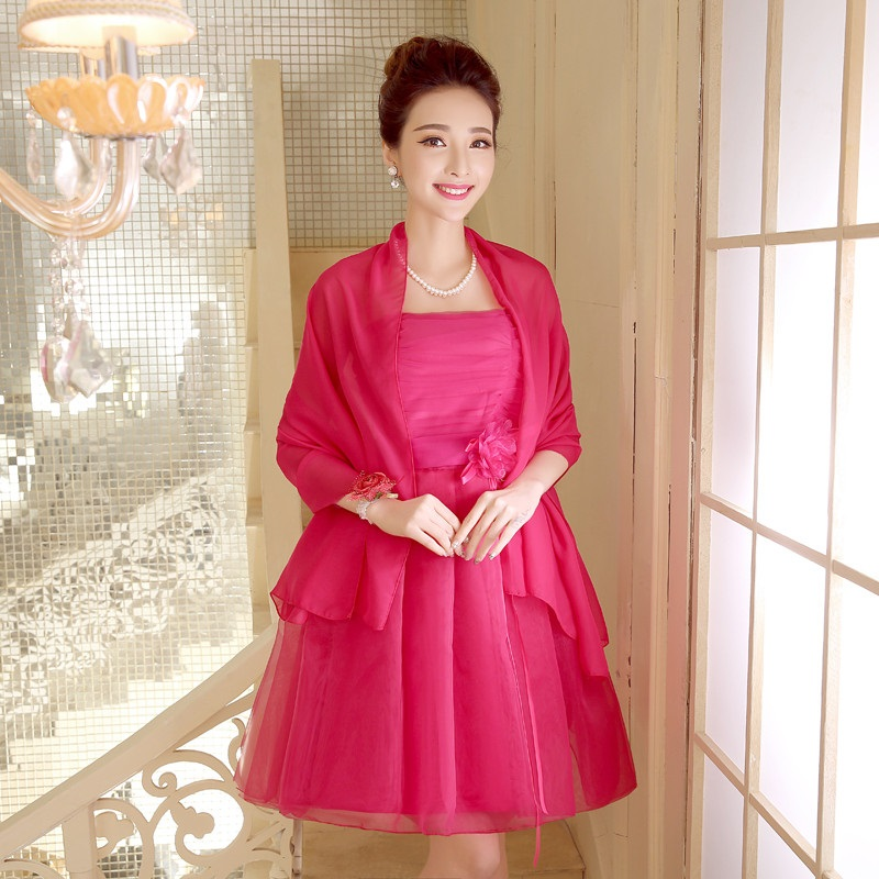 Three Designs Five-Colors Simple Plain Lace Dress (with matching Shawl)