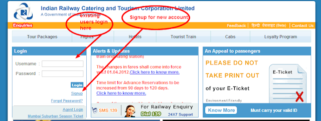IRCTC Login -IRCTC Online Railway Ticket Booking System|www.irctc.co