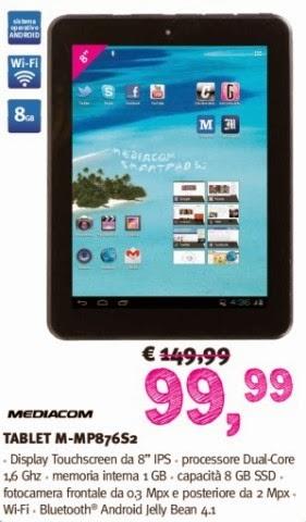In vendita dal 2014 il tablet SmartPad 8.0 S2 in offerta nel volantino Supermedia fino a febbraio 2014