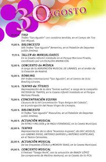 PROGRAMA DÍA 30 DE AGOSTO   Feria de San Agustín 2015  LINARES