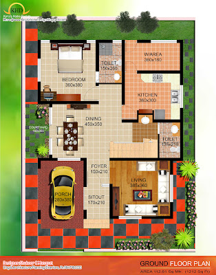 . Villa Elevation and Plan - Kerala home design and floor plans