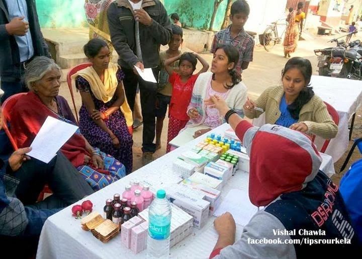 Free health camp at Basanti Colony