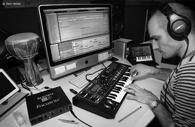Ben Heine Editing a track in Ableton - Lion Walk Animation - Music in Progress © 2013 Ben Heine
