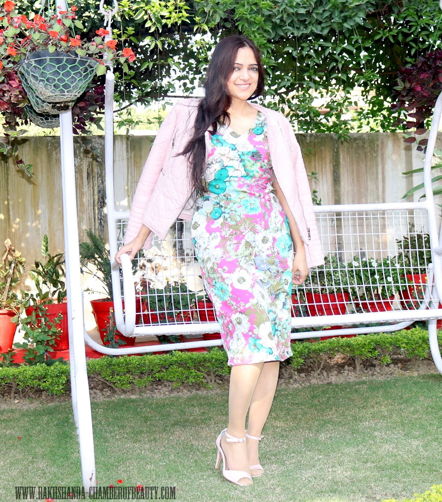 Chiaro by Devika Kalia floral pencil dress, Indian designer wear, Indian fashion blogger